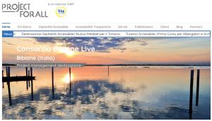 Intestazione sito Projectforall Laguna di Bibione progetto Destination4All